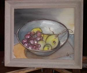 Composition aux raisins (II) - 2013 - Aquarelle/Crayon
