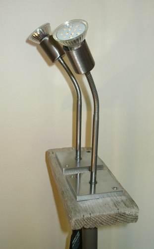 Détail Lampe (mod 3) bois flotté led